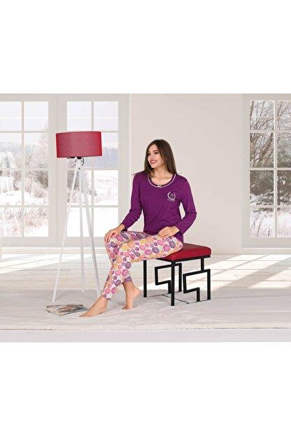 Penyelux Mor Altı Desenli Pijama Takımı