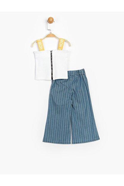 Panolino Kız Çocuk Askılı Badili Pantolonlu 2 Li Takım