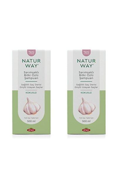 Otacı - Naturway Sarımsaklı Bitki Özlü Şampuan 500 Ml X2 Adet