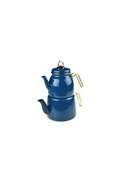 Taşev Emaye Çaydanlık Takımı Mavi
