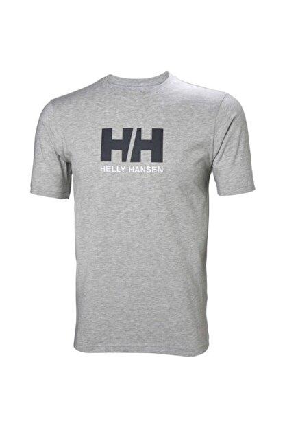 Helly Hansen Hh Logo Erkek T-shirt Gri Melanj