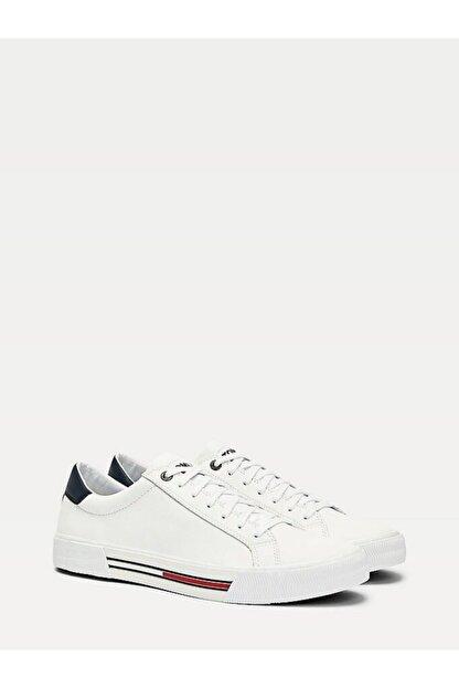 Tommy Hilfiger Erkek Beyaz Sneaker Essentıal Deri Sneaker EM0EM00488