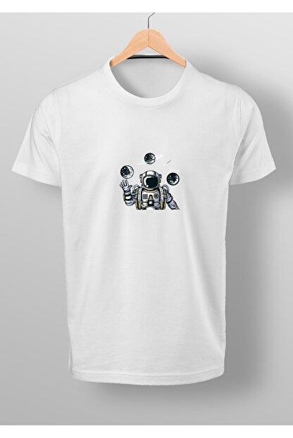 By Okat Astronot2 Baskılı T-shirt