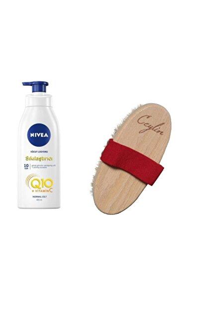 Nivea Q10 Sıkılaştırıcı Vücut Losyonu 400 Ml+ % 100 Doğal At Kılı Selülit Fırçası