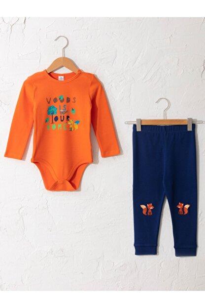 LC Waikiki Erkek Bebek Turuncu Pijama Takımı