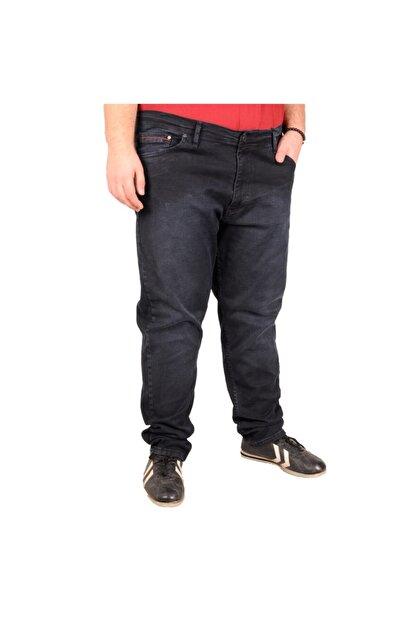 Modexl Büyük Beden Erkek Pantolon Kot 20904 Blue Black