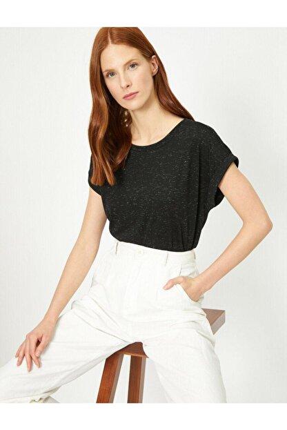 Koton Kadın Siyah Tshirt 0yak13582yk