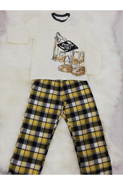 Wonder Kids Erkek Çocuk  Buldozerli  Mevsimlik Pijama Takımı