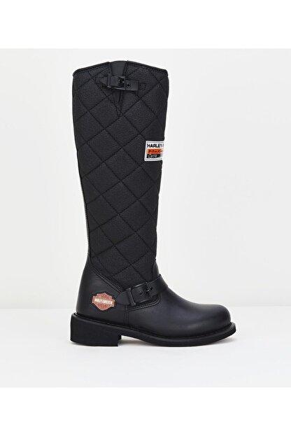 Harley Davidson Kadın Siyah Çizme