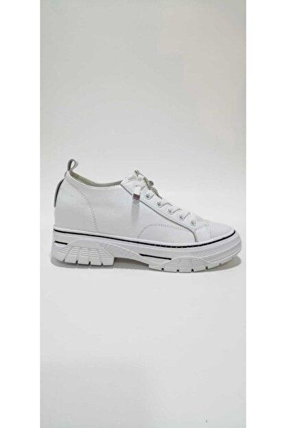 Guja Kadın Beyaz  Gizli Dolgu Topuklu Spor Ayakkabı