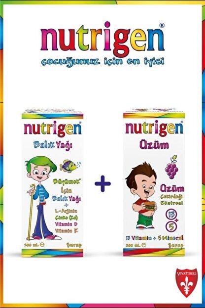 Nutrigen İndirimli Kofre Balık Yağı Şurup + Üzüm Şurup 200 ml + 200 ml