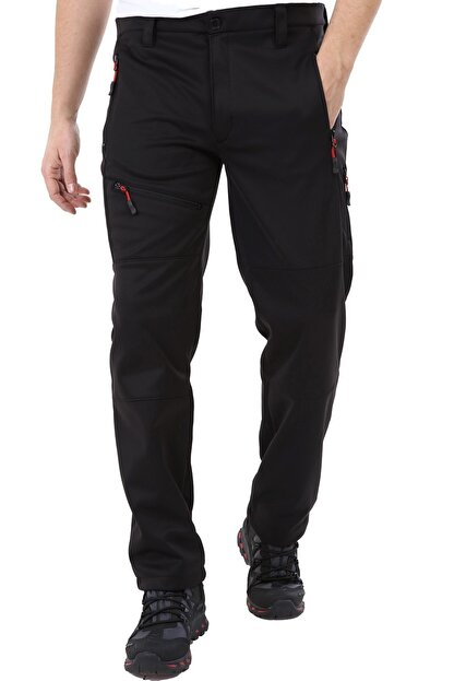 Ghassy Co Erkek Tactical Outdoor Su Geçirmez Siyah Softshell Pantolon