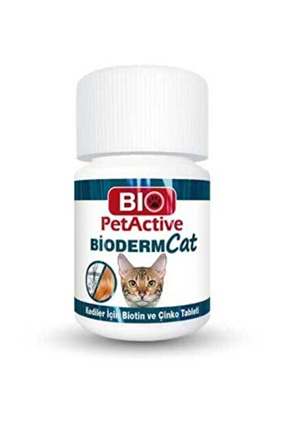 Bio PetActive Bioderm Cat 100 Tablet Kediler Için Çinko Ve Biotin Tableti