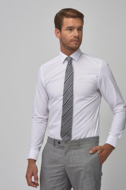 Altınyıldız Classics Erkek Beyaz Tailored Slim Fit Klasik Gömlek