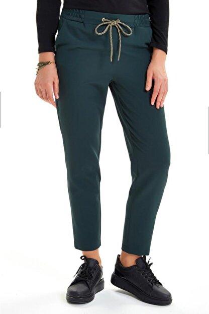 İkiler Beli Lastikli Kordonlu Cepli Pantolon 201-3520