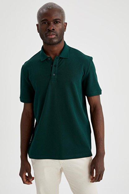 Defacto Regular Fit Polo Yaka Basic Tişört