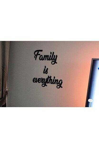 Yumak Dekor Grup Family Is Everything Ahşap Duvar Yazısı - Motto - Tablo