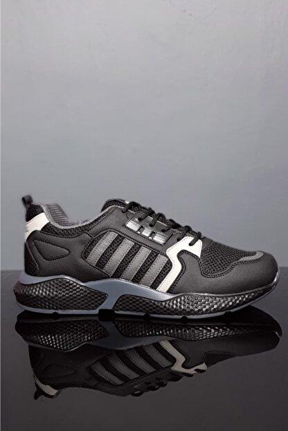 Moda Frato Unisex Siyah Gri Spor Ayakkabı Wn 4031x