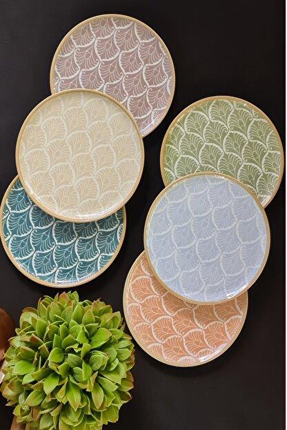 Porland Aicha 6 Parça 6 Kişilik Porselen Servis Takımı 25 Cm