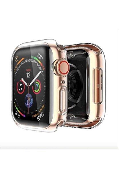 Gate Apple Watch 44 Mm Uyumlu Şeffaf Silikon Kılıf Iwatch 44mm Tam Koruma Koruyucu