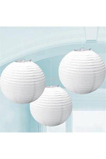 Parti Feneri Beyaz Renkli Japon Feneri 30 Cm