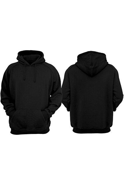 VectorWear Unisex Siyah Basic Sweatshirt
