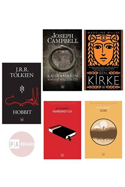 İthaki Yayınları 5'li Kitap Seti - Hobbit, Kahramanın Sonsuz Yolculuğu, Ben Kirke, Dune, Fahrenheit 451