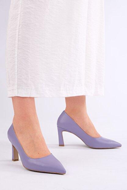 Marjin Kadın LİLA Stiletto Topuklu Ayakkabı Akuna