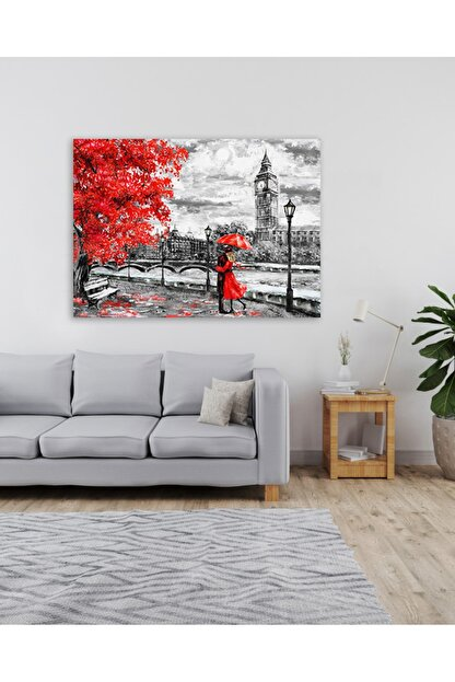 Zeta Aks Londra Caddesi Tek Parça %100 Cotton Canvas Tablo