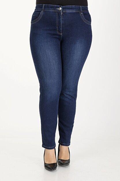 E Collection Büyük Beden Full Likralı Jeans Pantolon