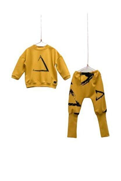 Moi Noi Moinoi Uzun Manşetli Bebe Takım 50041-sarı