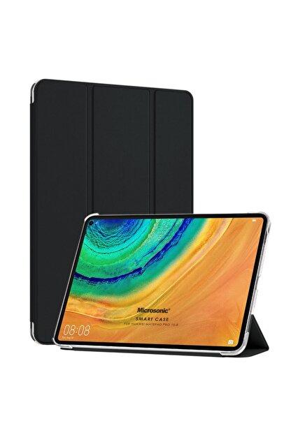 Huawei Microsonic Matepad Pro 10.8'' Kılıf Slim Translucent Back Smart Cover Siyah