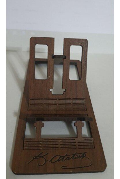 Confused Owl Hediyelik Eşya Atatürk Imzalı Masa Üstü Telefon Tutucu Stant Masaüstü Tablet Tutacak Şarj Standı