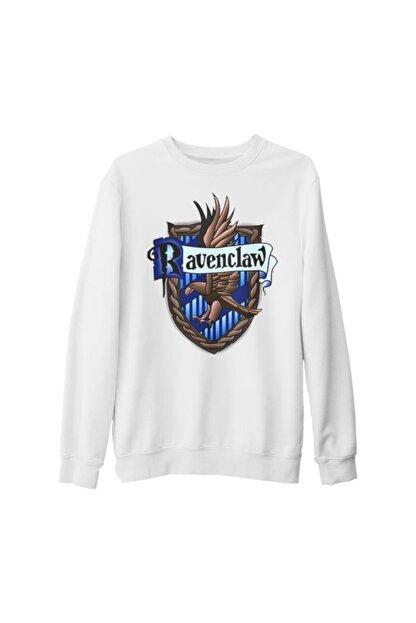 Lord T-Shirt Unisex Beyaz Harry Potter Ravenclaw Kalın Sweatshirt