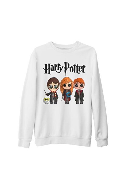 Lord T-Shirt Unisex Beyaz Harry Potter  Sihir Kalın Sweatshirt