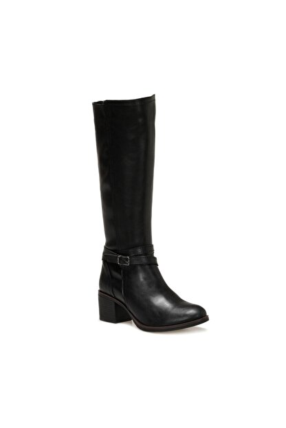 Polaris 316398CZ Siyah Kadın Ökçeli Çizme 100567666