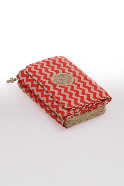 Smart Bags Smb1227-0134 Kırmızı/bej Kadın Cüzdan