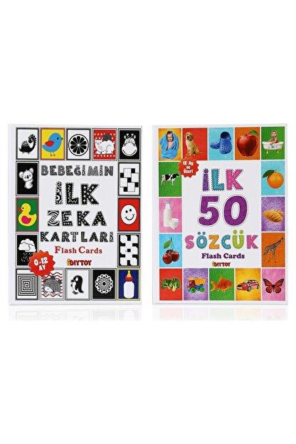 Diytoy Flash Cards Ilk 50 Sözcük + Bebeğimin Ilk Zeka Kartları 2'li Set
