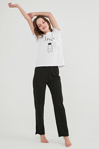 Penti Kadın Çok Renkli Gift Salt Ss Pantolon Pijama Takımı