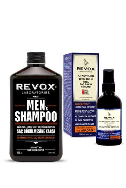 Revox Erkeklere Özel Saç Bakım Şampuanı + At Kuyruğu Bitki Özlü Özel Saç Bakım Serumu