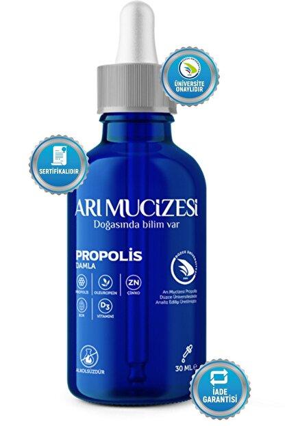"""Arı Mucizesi """"Propolis, Oleuropein, D3 Vitamini, Çinko ve Bor İçeren Damla - 30ml"""""""