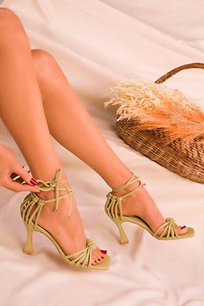 Soho Exclusive Yeşil Kadın Klasik Topuklu Ayakkabı 16195
