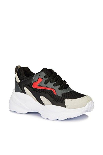 Vicco Nila Unisex Çocuk Siyah Spor Ayakkabı