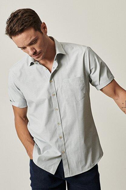 Altınyıldız Classics Erkek Haki Regular Fit Kısa Kollu Gömlek