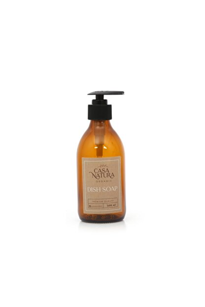 CASANATURA Amber Cam Şişe Dısh Soap (Bulas?ık Deterjanı) Kraft Etiketli 250 ml