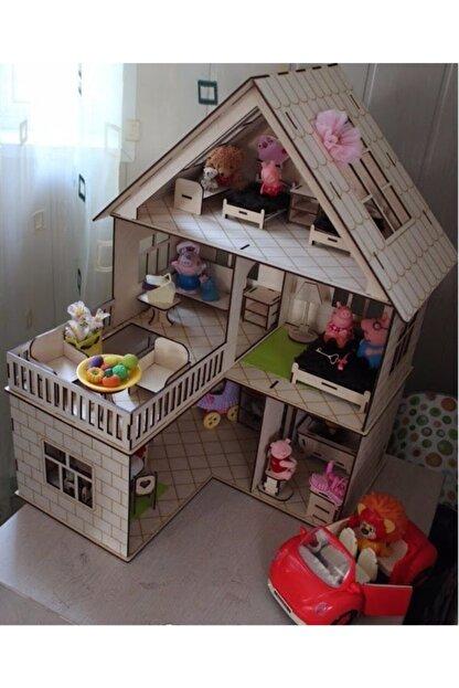 tsddekorasyon Tsd Dekorasyon 3 Katlı L Barbie Evi Merdivenli