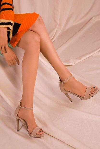Soho Exclusive Ten Süet Kadın Klasik Topuklu Ayakkabı 14530