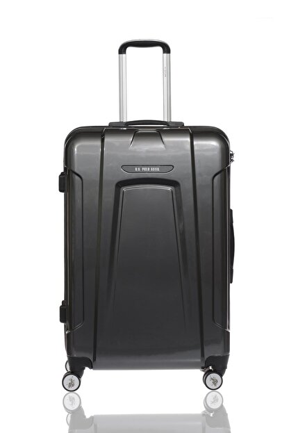 US Polo Assn Plvlz8061a Gri Unisex Büyük Boy Bavul