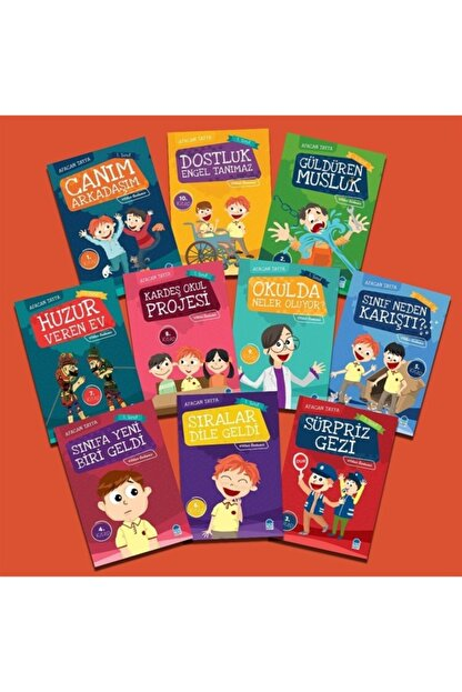 Mavi Kirpi Afacan Tayfa 1. Sınıf Ilk Okuma Seti 10 Kitap