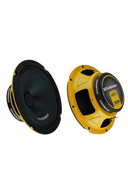 Soundmax Oto Hoparlör 20cm 300w Mıdrange 2 Adet Sx-m8xl